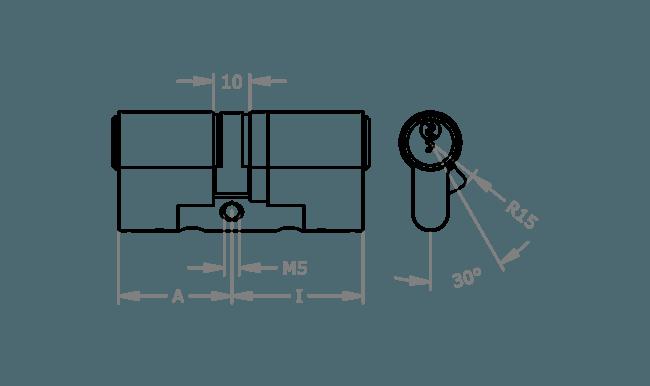 схема цилиндра EVVA EPS