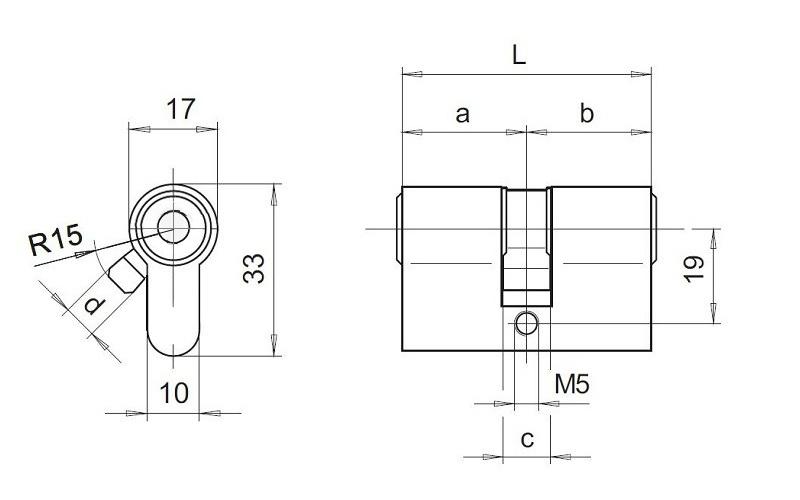 схема цилиндра DOM dimant