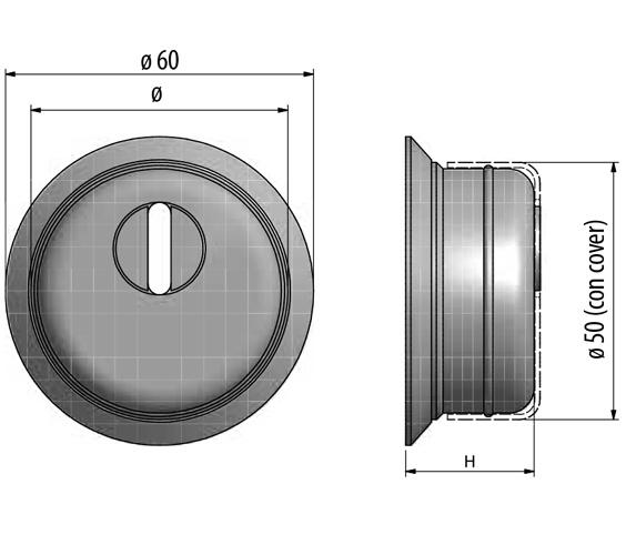 захисний протектор для циліндра F23 з юбкою