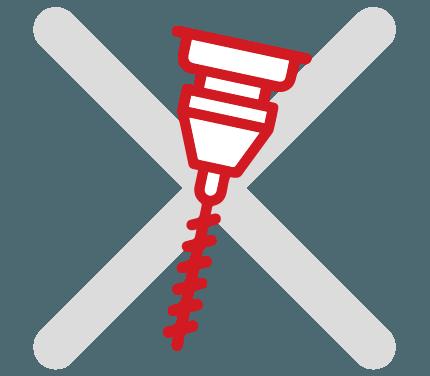 Захист від висвердлювання та фрезерування