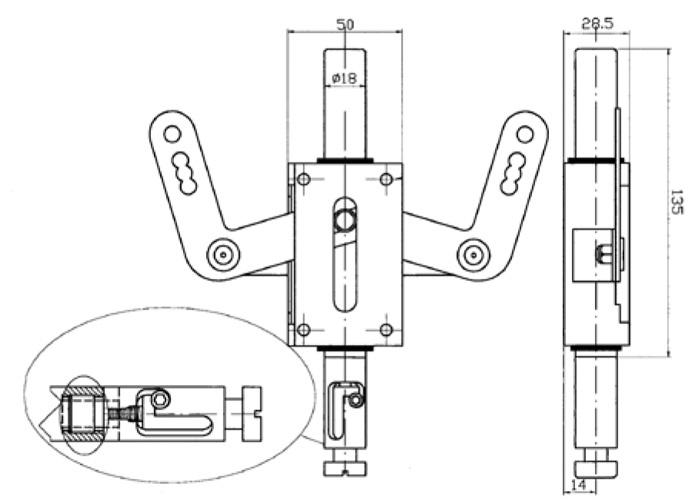 схема девіатора для двохстворчастих дверей