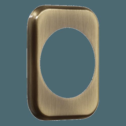 квадратна накладка azzi fausto me50 бронза