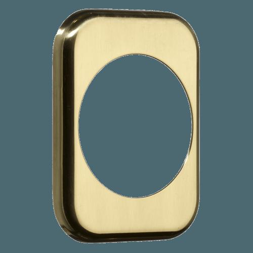 квадратна накладка azzi fausto me50 полірована латунь