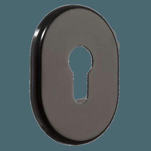 декоративна накладка для дверного циліндра azzi fausto my чорного кольору