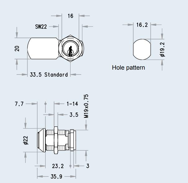 схема кріплення камерного замка