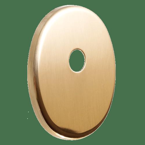 декоративна накладка під циліндр ключ-шток, полірована латунь