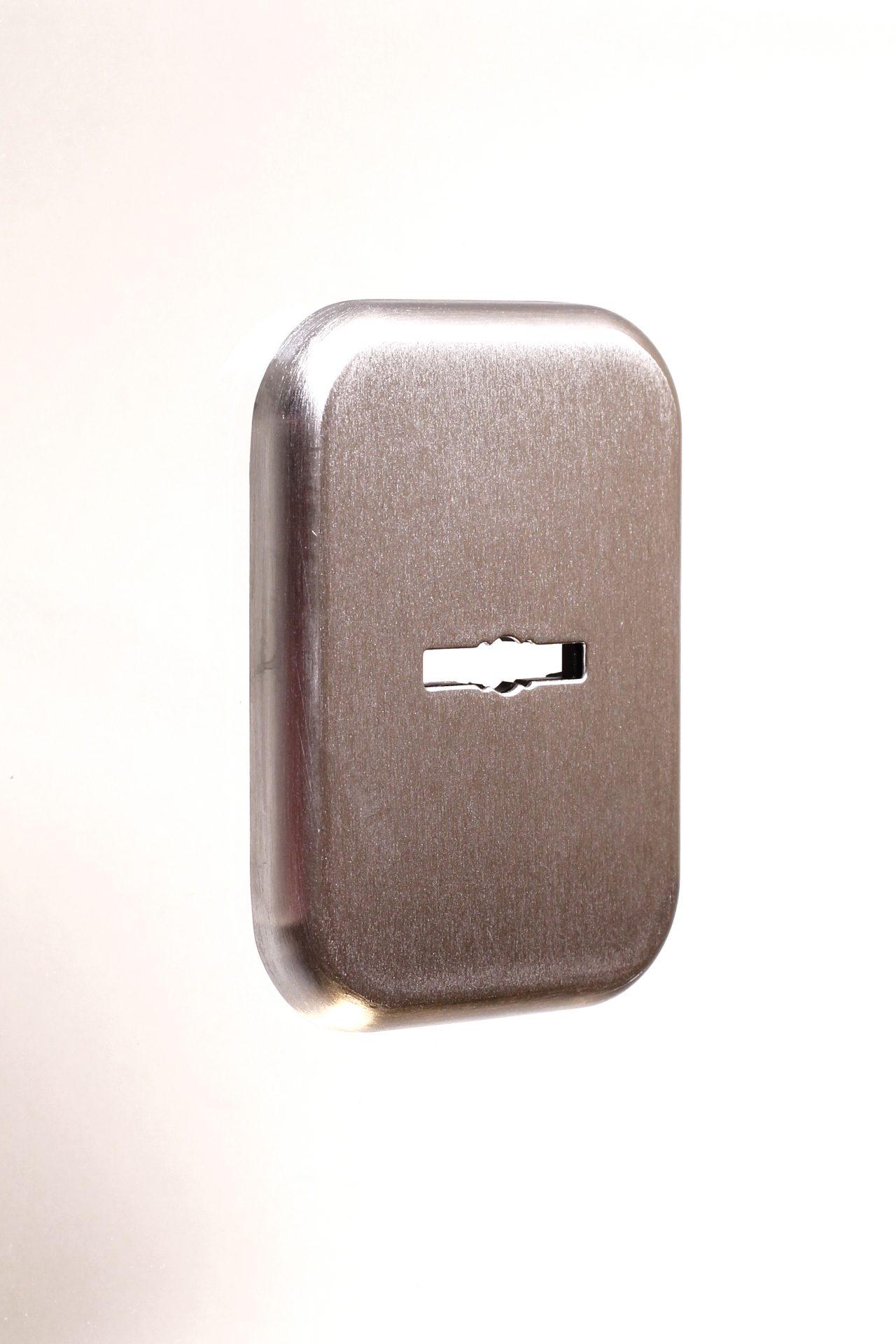 прямокутна декоративна накладка під циліндр ключ-шток